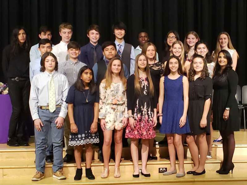Hampton Bays Inducts 22 Into National Junior Honor Society   Default
