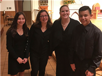 Student-musicians perform with professional chorus  photo